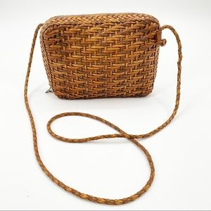 CEM Brazilian Leather Woven Shoulder Crossbody Bag
